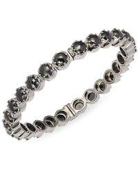 Bavna - Black Spinel & Sterling Silver Hinged Bracelet - Lyst