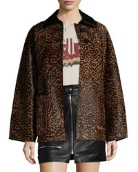 Isabel Marant Elder Leather Coat - Brown