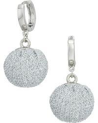 Rebecca Minkoff - High Shine Pompom Huggie Earrings - Lyst