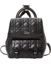 Dior - Quilted Leather Backpack - Lyst