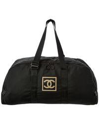 Chanel - Black Sport Ligne Large Boston Bag - Lyst