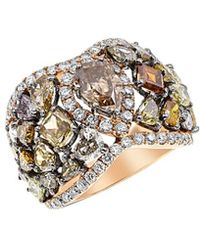 Diana M. Jewels . Fine Jewellery 18k Rose Gold 6.80 Ct. Tw. Diamond Ring - Metallic