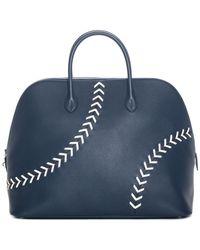 Hermès 1923 Baseball 45cm Bleu De Malte Evercolor Bolide Weekender Handbag - Blue