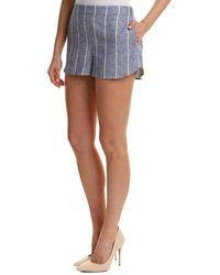 Alice + Olivia Madison Linen-blend Short - Blue