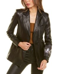 Off-White c/o Virgil Abloh Off-white? Leather Blazer - Black