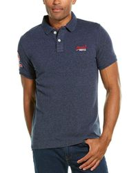 Superdry Classic Polo Shirt - Blue