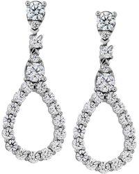 Hearts On Fire 18k 1.36 Ct. Tw. Diamond Aerial Drop Earrings - Metallic