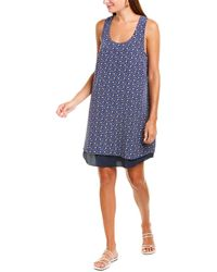 Tory Burch Sydney Floral-print Silk Shift Dress - Blue