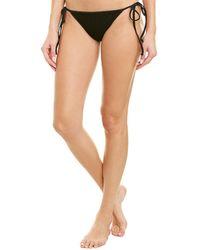 MILLY Cabana Biarritz String Bikini Bottom - Black