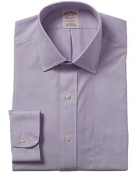 Brooks Brothers 1818 Madison Fit Dress Shirt - Purple