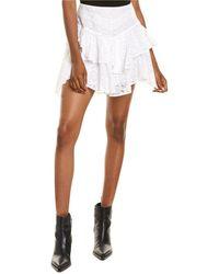 IRO Tale Mini Skirt - White