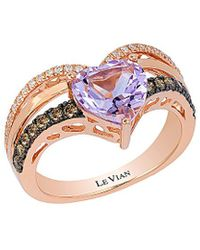 Le Vian ? 14k Rose Gold 1.86 Ct. Tw. Diamond & Pink Amethyst Ring