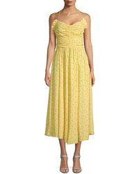 Jill Stuart Halter Midi Dress - Yellow