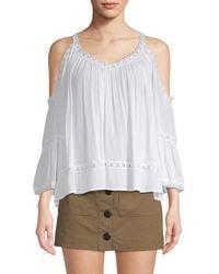 Rebecca Minkoff Drape Cold-shoulder Top - White