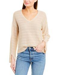 Splendid Shadow Stripe Pullover - Natural