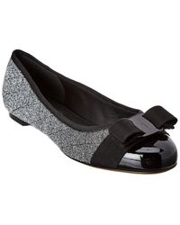 Ferragamo Varina Quilted Leather Ballet Flat - Black