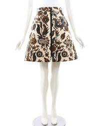 Louis Vuitton Runway Floral Print A-line Skirt, Size Fr 40 - Multicolour