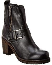 Frye Karen Moto Zip Ankle Boot - Black