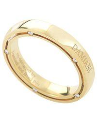 Damiani 18k Yellow Gold Diamond Ring - Metallic