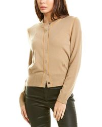 Burberry Monogram Silk-trim Cashmere Cardigan - Brown