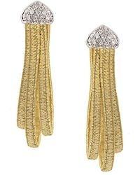 Marco Bicego Cairo 18k Two-tone Diamond Hoops - Metallic