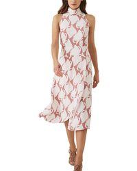 Reiss Doriana Midi Dress - Pink