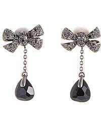 Pomellato 18k 0.64 Ct. Tw. Diamond & Onyx Drop Earrings - Metallic