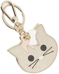 Furla Venus Cat Keyring - Metallic