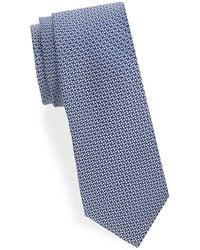 Saks Fifth Avenue - Two-tone Diagonal Woven Silk Tie - Lyst