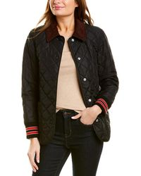 Burberry Diamond Quilted Barn Jacket - Black