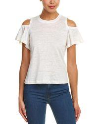 Rebecca Taylor Cold-shoulder Linen Top - White
