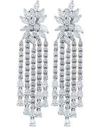 Diana M. Jewels . Fine Jewellery 18k 17.00 Ct. Tw. Diamond Earrings - Multicolour
