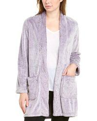 N Natori Fleece Robe - Purple