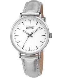 August Steiner Metallic Leather Watch