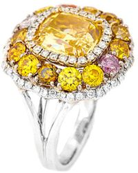 Diana M. Jewels . Fine Jewellery 18k 7.14 Ct. Tw. Diamond Ring - Metallic