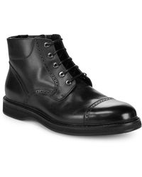 Brioni Good-year Leather Boots - Black