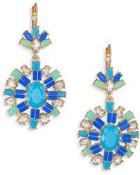 ABS By Allen Schwartz - Jeweled Pendant Drop Earrings - Lyst