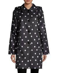 Kate Spade Hooded Polka Dot Jacket - Black