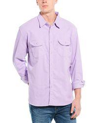 J.Crew Classic Fit Corduroy Shirt - Purple