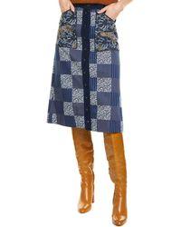 Mary Katrantzou Edie Pencil Skirt - Blue