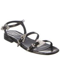 Zadig & Voltaire Paros Used Leather Sandal - Black