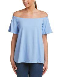 Susana Monaco Off-the-shoulder Top - Blue