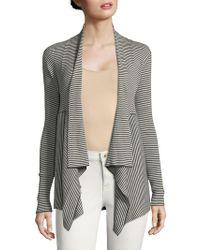 Autumn Cashmere - Striped Open Front Cotton Cardigan - Lyst