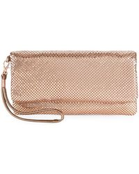 La Regale - Mesh Metallic Folded Clutch - Lyst