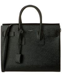 Saint Laurent Small Sac De Jour Leather Tote - Black