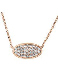 Sabrina Designs 14k Rose Gold 0.44 Ct. Tw. Diamond Necklace - Metallic