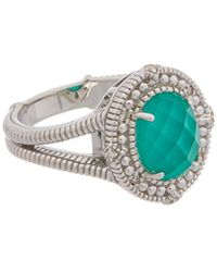 Judith Ripka Berge Silver 3.00 Ct. Tw. Diamond & Gemstone Doublet Ring - Metallic