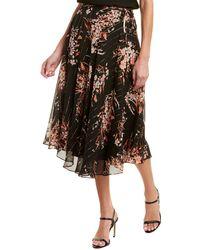 Joie Arvina Silk-blend Skirt - Multicolour