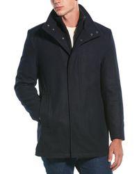 Marc New York Coyle Wool-blend Coat - Blue