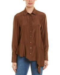 Nanette Lepore Silk Blouse - Brown